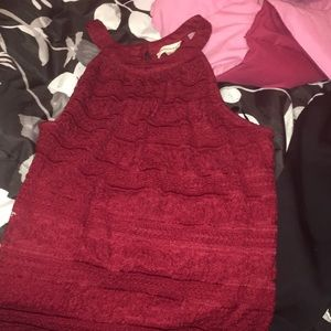 Red Lacey tank top XL worn twice